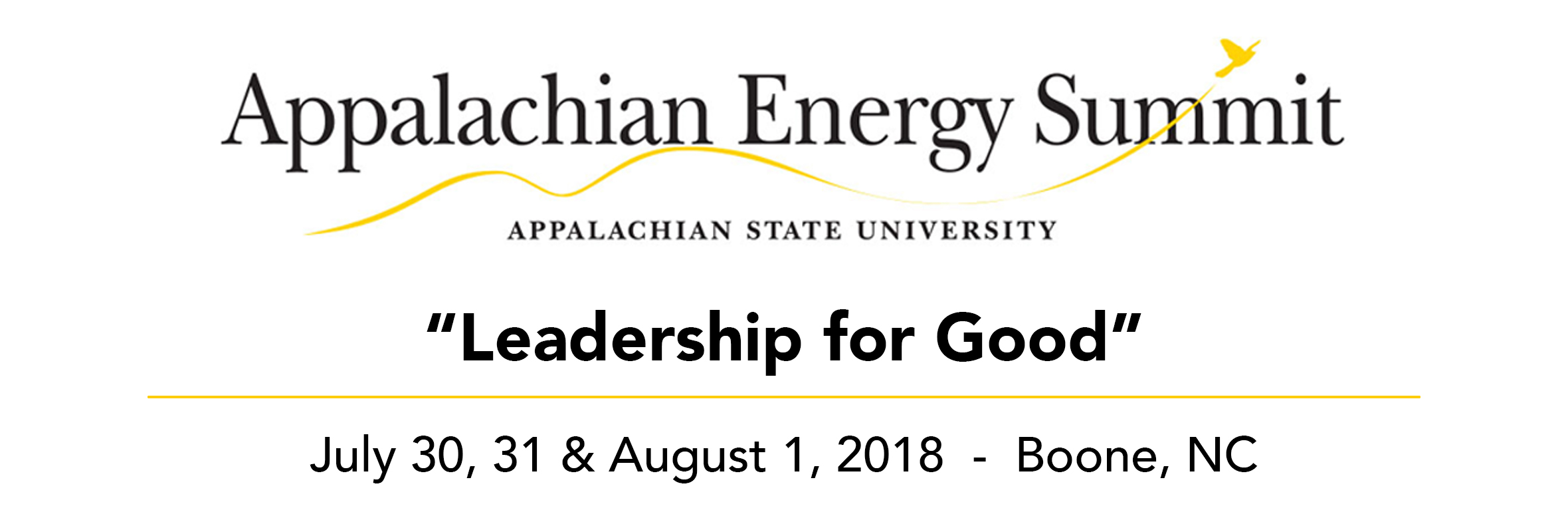 2018 Mid-year Energy Summit, February 20th, 2018 - Appalachian Energy Summit July 20, 31 and August 1, 2018