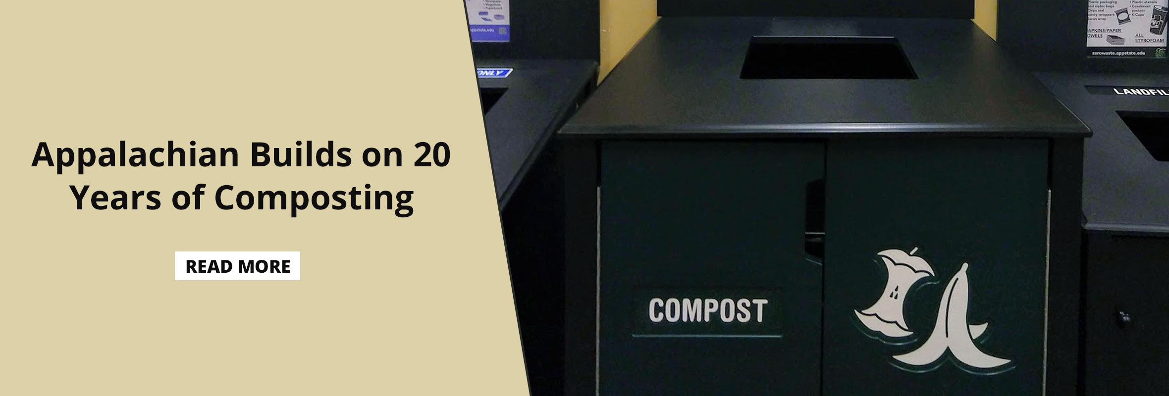 Appalachian Builds on 20 Years of Composting on Campus with Dining Expansion