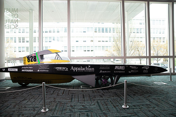 Appalachian's first solar vehicle — Apperion — featured in 2019 Triangle SciTech Expo