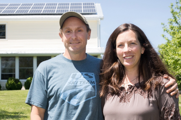 Appalachian professors practice what they teach, operate their home at net-positive energy use with solar panels